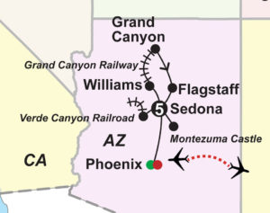 Great Trains Grand Canyon Guided Vacataion